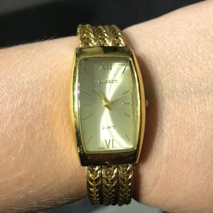 Peugeot gold chain watch